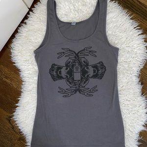 Gray deer Jager T-shirt